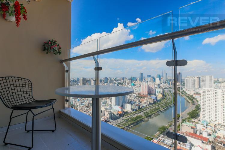 Balcony Cho thuê căn hộ The Gold View tầng cao, 2PN, view đẹp, đầy đủ nội thất
