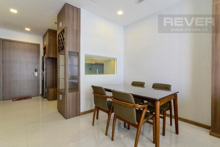 Phòng Ăn Cho thuê căn hộ Vinhomes Central Park 2PN 2WC, đầy đủ nội thất, view sông