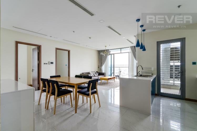 Phòng Khách Cho thuê căn hộ Vinhomes Central Park 4PN, đầy đủ nội thất, view trực diện sông Sài Gòn