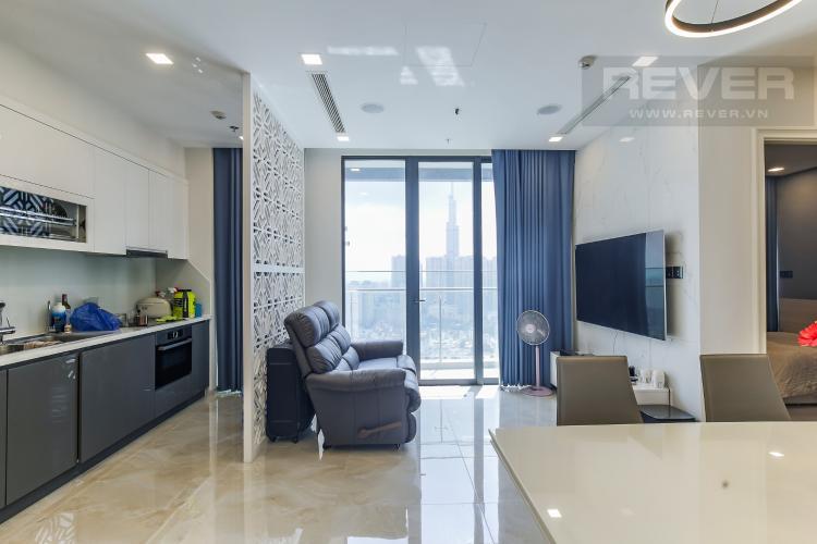 Phòng Khách Bán căn hộ Vinhomes Golden River 2PN, tháp The Aqua 4, đầy đủ nội thất, view sông Sài Gòn và Landmark 81