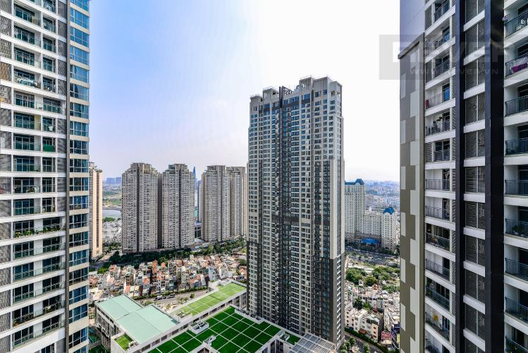 View Cho thuê căn hộ Vinhomes Central Park tầng cao, 2PN đầy đủ nội thất, view nội khu
