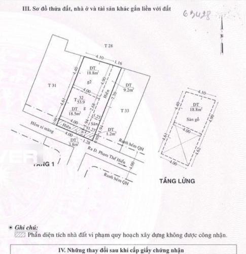 Bản vẽ nhà phố Phạm Thế Hiển, quận 8 Nhà phố hướng Tây Nam, diện tích 58.3m2, sân trước rộng rãi.