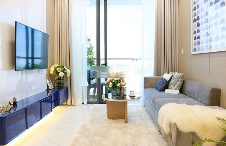 Phòng khách D'Lusso Quận 2 Căn hộ D'Lusso tầng 8, ban công view sông, nội thất cơ bản.