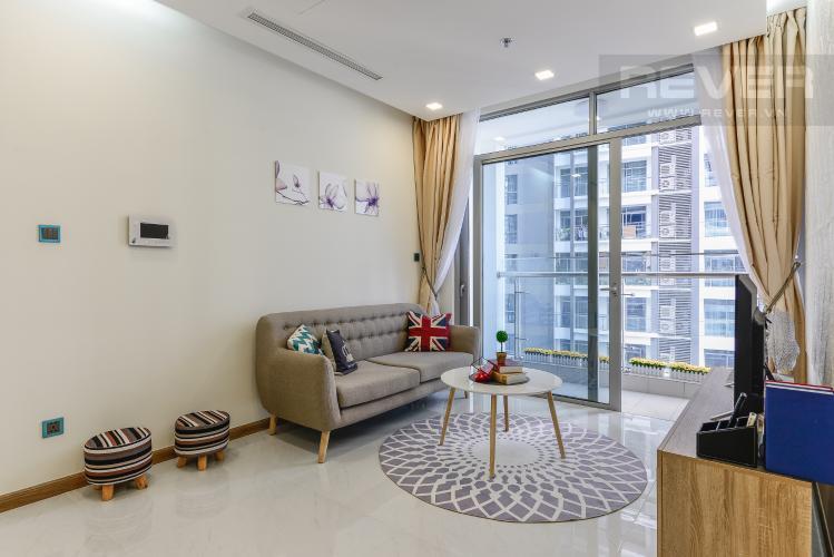 Phòng khách Căn hộ Vinhomes Central Park 2 phòng ngủ tầng thấp Park 4