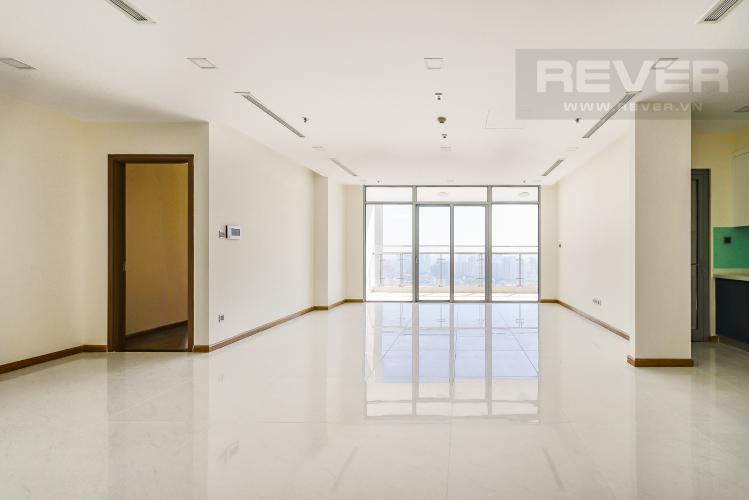 Phòng khách Căn hộ Vinhomes Central Park 4 phòng ngủ tầng cao P2 view sông