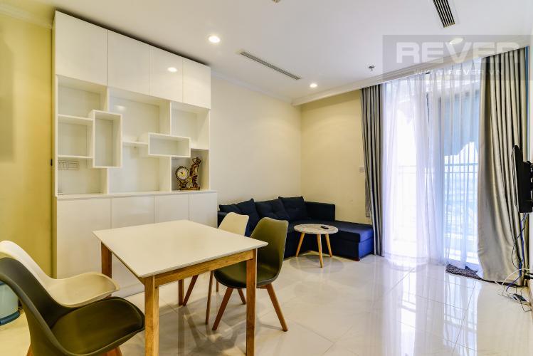 Phòng Ăn Căn hộ Vinhomes Central Park 1 phòng ngủ tầng cao L3 hướng Đông Bắc