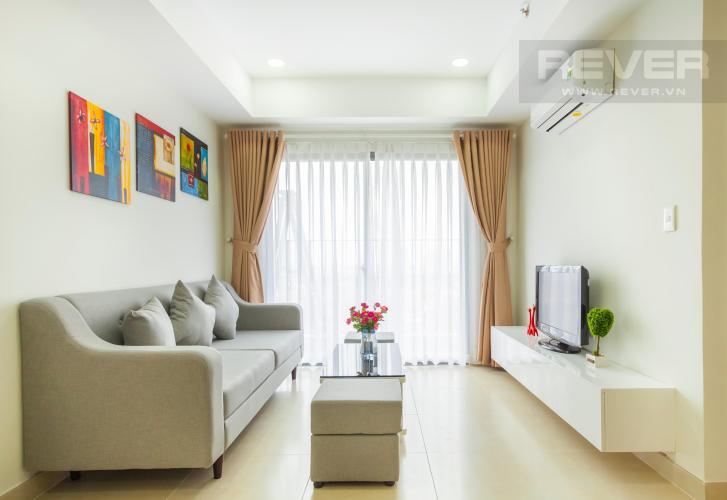 Phòng khách thiết kế nội thất trẻ trung Căn hộ Masteri Thảo Điền 2 phòng ngủ tầng trung T3 nội thất đầy đủ