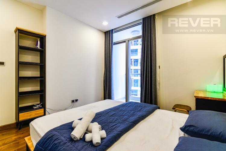 Phòng Ngủ Officetel 1 phòng ngủ căn hộ Vinhomes Central Park, tầng thấp, full nội thất