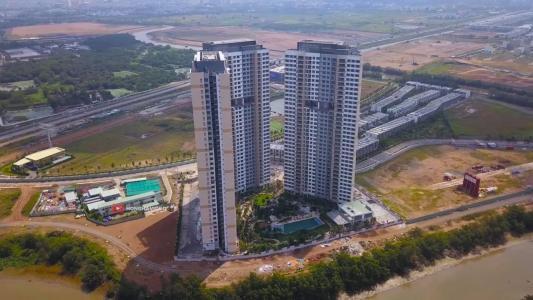 Bán căn hộ Palm Heights 2 phòng ngủ, tầng trung, tháp 1, bàn giao thô, view nội khu và sông Giồng Ông Tố