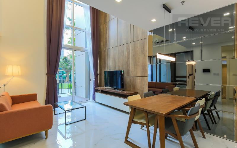 Phòng Khách Lofthouse Vista Verde 3 phòng ngủ tầng thấp T1 nội thất đầy đủ