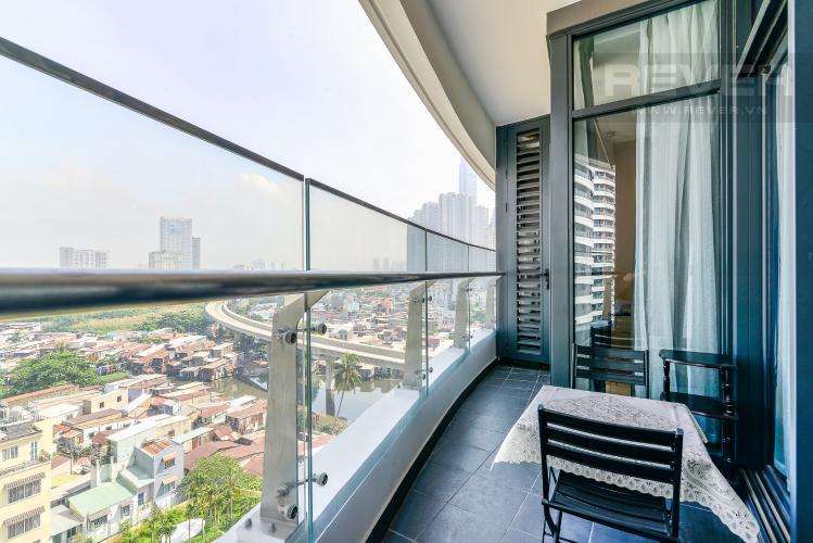 Balcony Căn hộ City Garden 1PN, view đẹp, nội thất đầy đủ