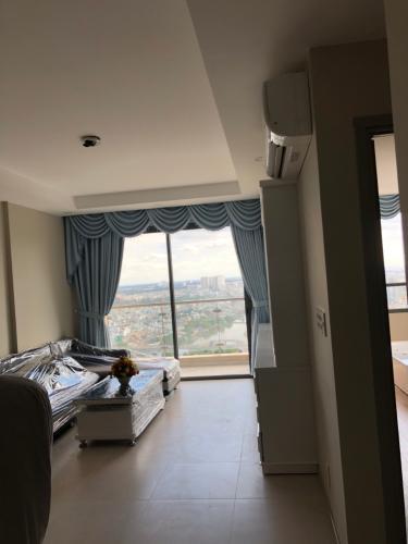 Phòng khách căn hộ The Gold View Căn hộ The Gold View 2 phòng ngủ nội thất đầy đủ view hồ bơi.