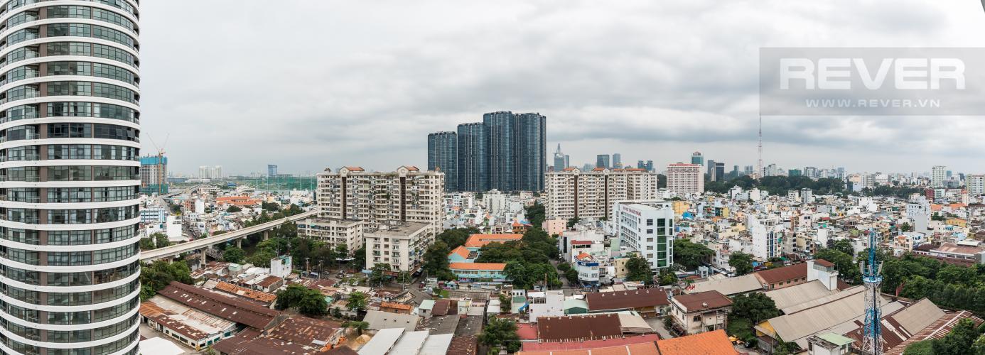 View Cho thuê căn hộ City Garden 1PN, tầng cao, đầy đủ nội thất