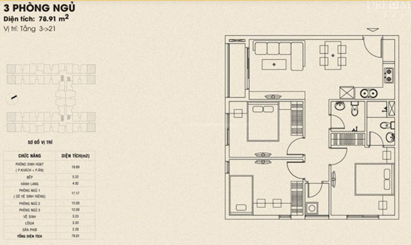 Căn hộ Dream Home Palace bàn giao nội thất cơ bản, hướng Tây Bắc.