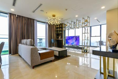 Căn hộ Vinhomes Golden River tầng cao, 3 phòng ngủ, nội thất đầy đủ