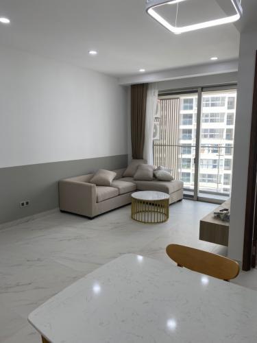 phòng khách căn hộ midtown Căn hộ Phú Mỹ Hưng Midtown tầng trung, nội thất cơ bản.