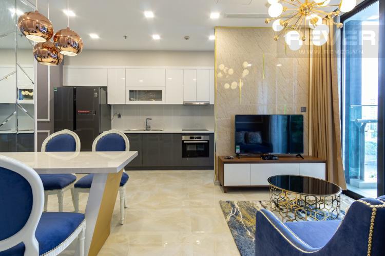 Phòng Khách Cho thuê căn hộ Vinhomes Golden River 2PN, tầng thấp, tháp The Aqua 1, đầy đủ nội thất