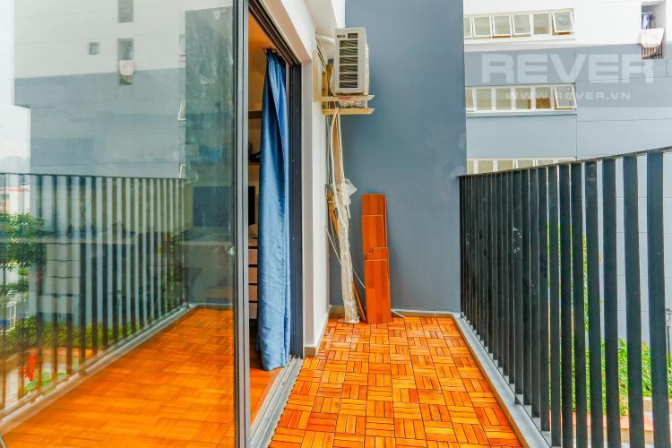 Balcony Căn hộ M-One Nam Sài Gòn 1 phòng ngủ tầng thấp T2 nội thất đơn giản