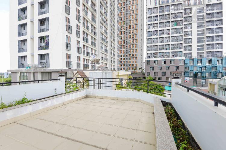Sân Thượng Trước Cho thuê nhà phố hẻm Nguyễn Duy Trinh, Q2, 3 phòng ngủ, không có nội thất, hướng Đông Nam