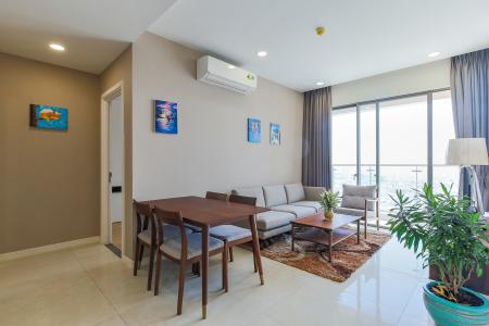 Cho thuê căn hộ Masteri Millennium 72.4m2, đầy đủ nội thất, view sông