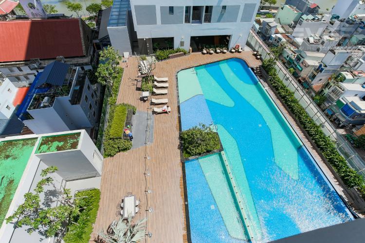 View Căn hộ Rivergate Residence Quận 4 tầng thấp 1 phòng ngủ full nội thất