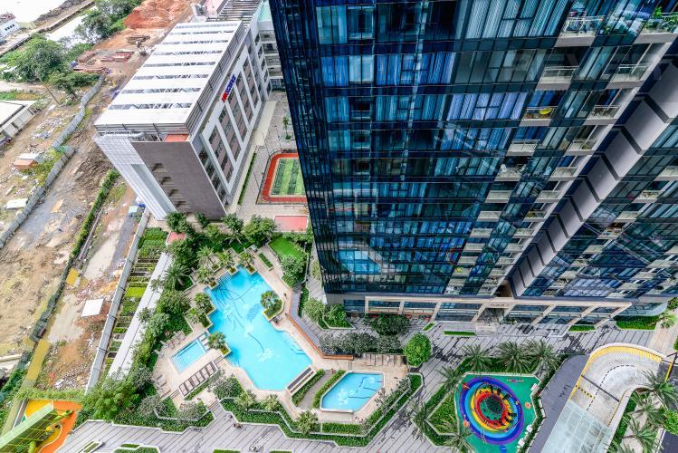 View Cho thuê căn hộ Vinhomes Golden River 2PN đầy đủ nội thất, view sông Sài Gòn