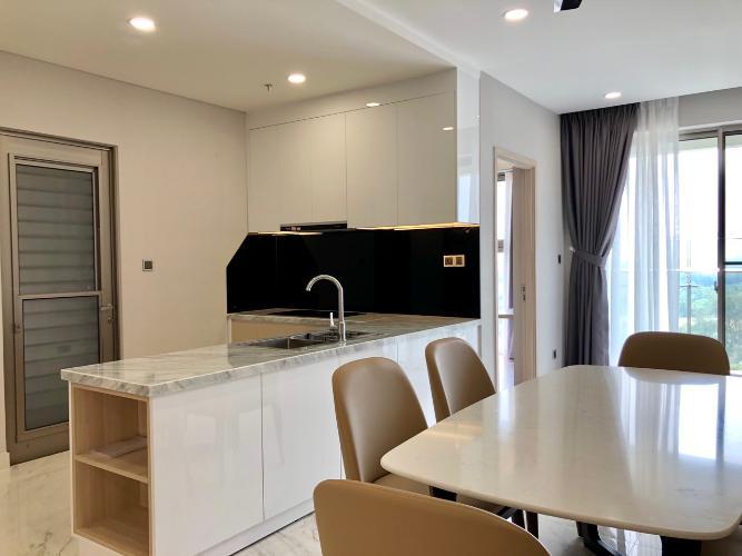 Bếp căn hộ Phú Mỹ Hưng Midtown Cho thuê căn hộ Phú Mỹ Hưng Midtown tầng trung, ban công thoáng mát.