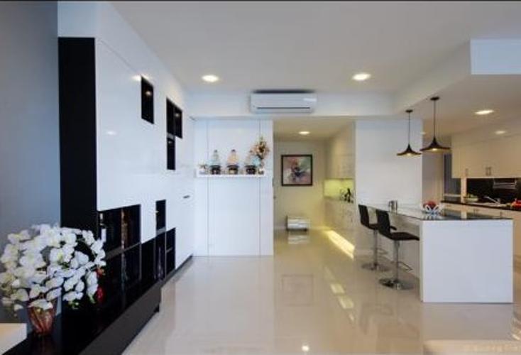 Phòng khách căn hộ SUNRISE CITY Bán hoặc cho thuê căn hộ Sunrise City 3PN, tháp V2 khu South, diện tích 162m2, đầy đủ nội thất