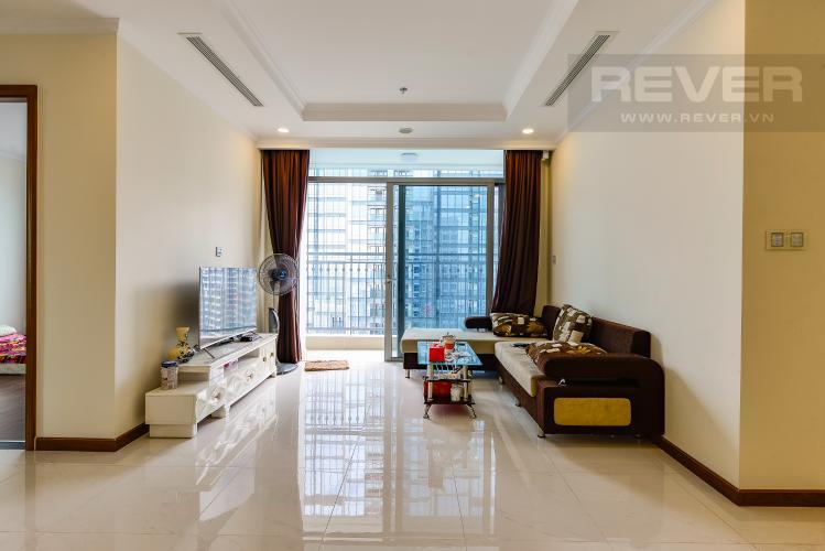 Phòng khách Bán căn hộ Vinhomes Central Park tầng cao, 4PN, đầy đủ nội thất, view đẹp