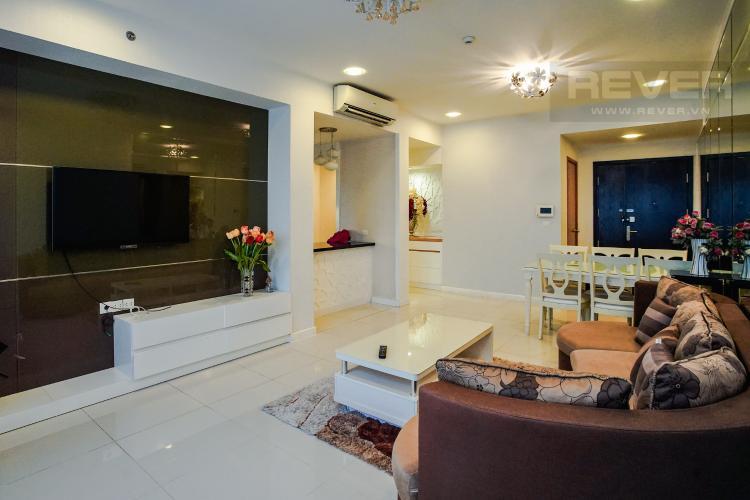 Phòng Khách Bán căn hộ Sunrise City 2PN, nằm ngay góc, tháp V5, tầng cao, đầy đủ nội thất