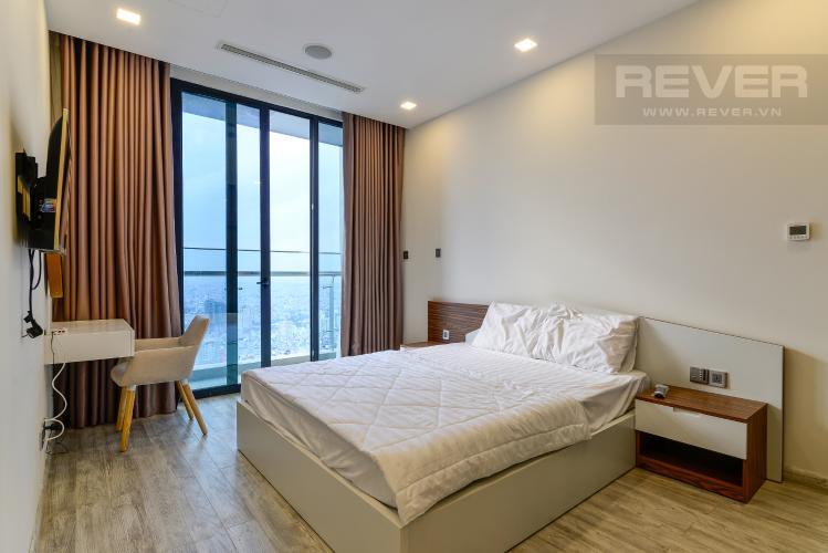 Phòng Ngủ Cho thuê căn hộ Vinhomes Golden River 1PN, tầng cao, tháp The Aqua 1, đầy đủ nội thất, view sông Sài Gòn thoáng mát