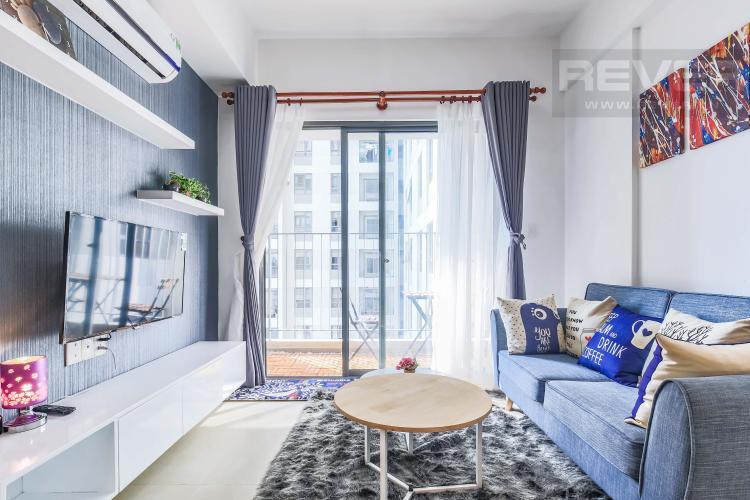 Phòng khách bài trí nội thất sang trọng Cho thuê căn hộ Masteri Thảo Điền 2PN, tầng cao, tháp T2A, đầy đủ nội thất, hướng Tây Bắc