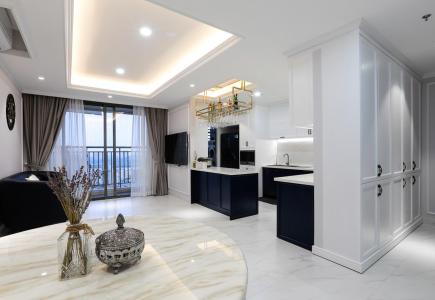 Bán căn hộ Rivergate Residence 3PN, tháp B, tầng 24, diện tích 110m2, đầy đủ nội thất, hướng Tây Nam