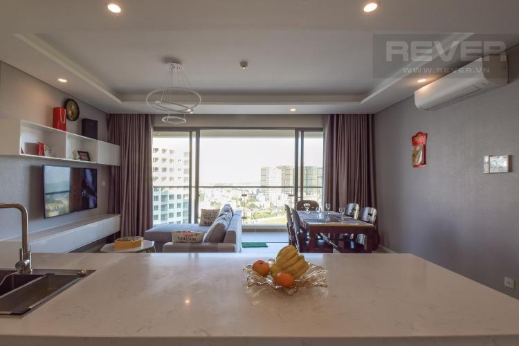 Phòng Khách Cho thuê căn hộ Diamond Island - Đảo Kim Cương  2PN 2WC, đầy đủ nội thất, view hướng sông và nội khu
