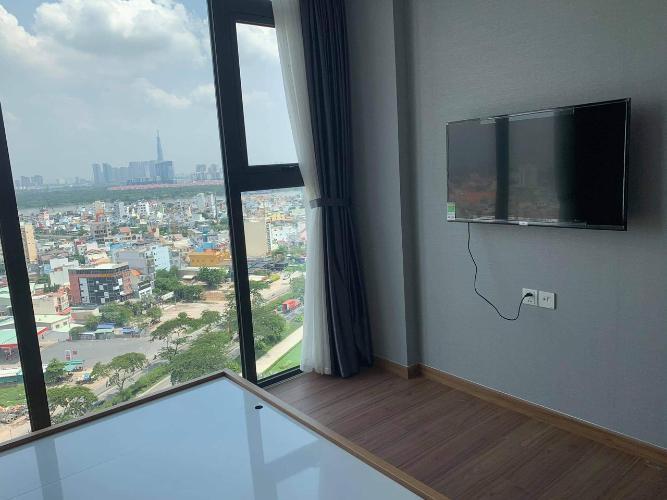 Phòng ngủ Eco Green Saigon Căn hộ Eco Green Saigon nội thất đầy đủ, view thành phố.