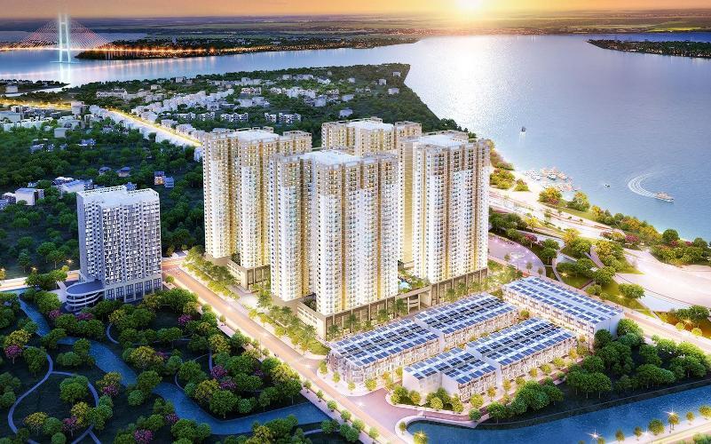 Mặt bằng căn hộ Q7 Saigon Riverside Bán căn hộ Q7 Saigon Riverside tầng cao, diện tích 66.66m2 - 2 phòng ngủ, chưa bàn giao