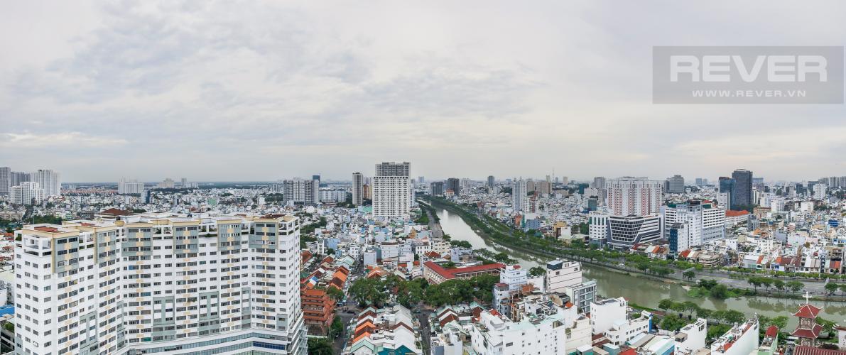 View Cho thuê căn hộ RiverGate Residence 3PN, tầng cao, tháp B, đầy đủ nội thất, view sông thoáng mát