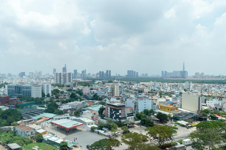 View Eco Green Saigon Căn hộ Eco Green Sài Gòn tầng thấp nội thất cơ bản, view Bitexco.