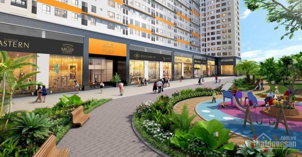khu ShopHouse và Công viên Moonlight Boulevard Shop-house Moonlight Boulevard diện tích tổng 164m2, mặt bằng sáng.