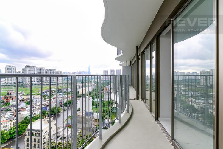View Balcony Cho thuê căn hộ Waterina Suites 3PN, tầng trung, nội thất cơ bản, view sông và Landmark 81