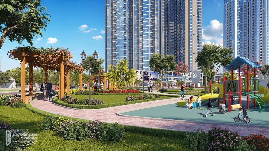 Nội khu công viên Eco Green Saigon Căn hộ Eco Green Saigon 2 phòng ngủ thiết kế hiện đại đầy đủ nội thất