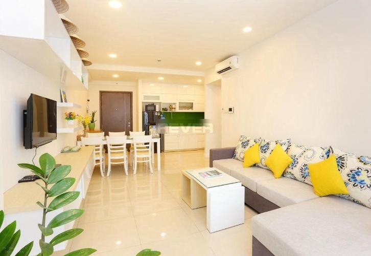 Phòng khách căn hộ Icon 56 Căn hộ Icon 56 đầy đủ nội thất tiện nghi, view thoáng mát.
