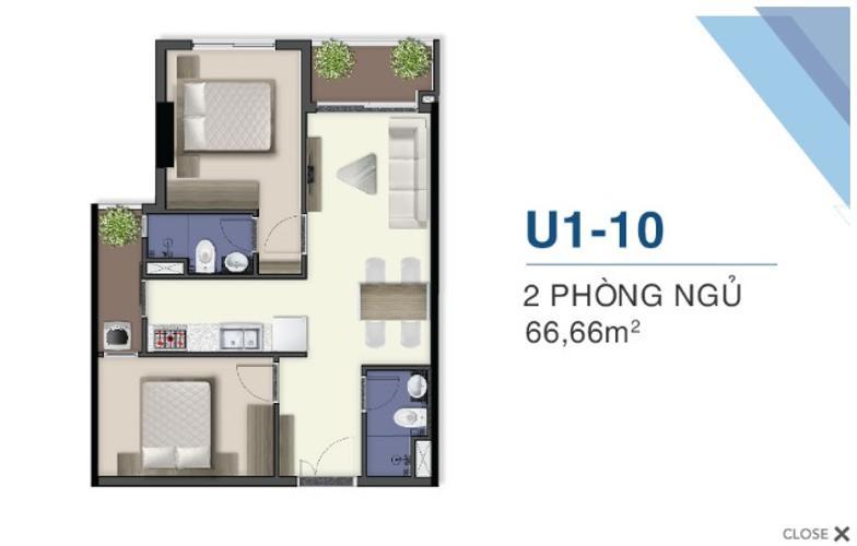 Mặt bằng căn hộ Q7 Saigon Riverside Complex Bán căn hộ tầng cao Q7 Saigon Riverisde ban công hướng Bắc.