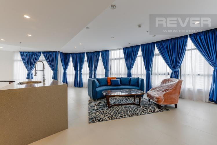 Phòng khách Căn hộ City Garden 3PN, đầy đủ nội thất, view đẹp