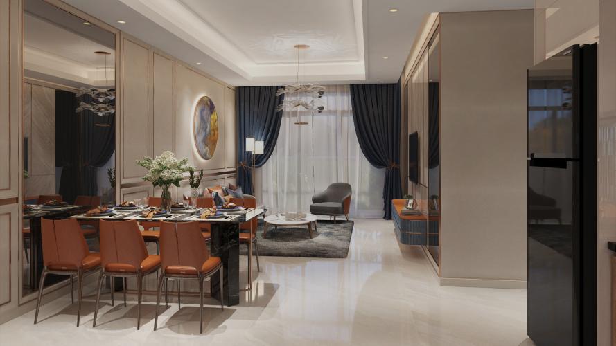 Phòng Opal Boulevard Căn hộ Opal Boulevard tầng 14, nội thất cơ bản, 2 phòng ngủ.