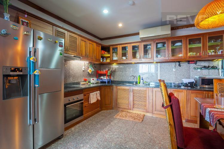 Khu Vực Bếp Căn hộ Hoàng Anh River View 4 phòng ngủ block C nội thất đầy đủ