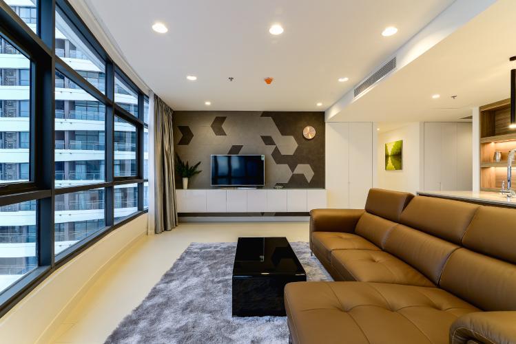 Căn hộ City Garden tầng cao, tháp Crescent, 3 phòng ngủ, full nội thất