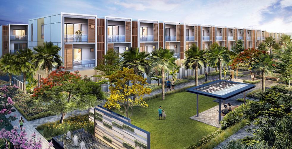 Palm City - Phối cảnh nhà phố Palm Residence