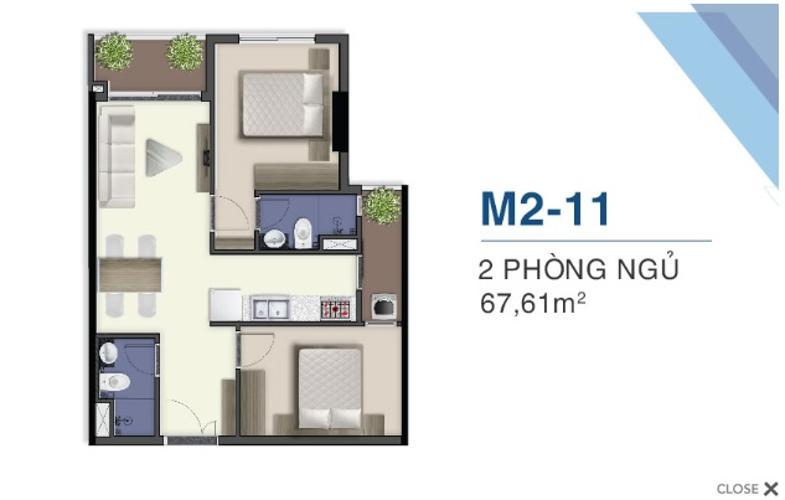Mặt bằng nội thất Q7 Saigon Riverside Bán căn hộ Q7 Saigon Riverside tầng cao, tháp Mercury, nội thất cơ bản