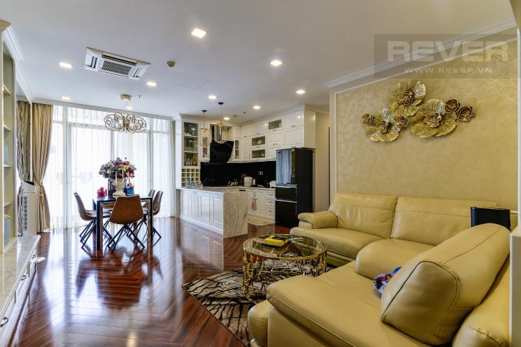 Phòng Khách Căn hộ Vinhomes Central Park tầng cao, tháp Park 7, 2PN, nội thất đầy đủ